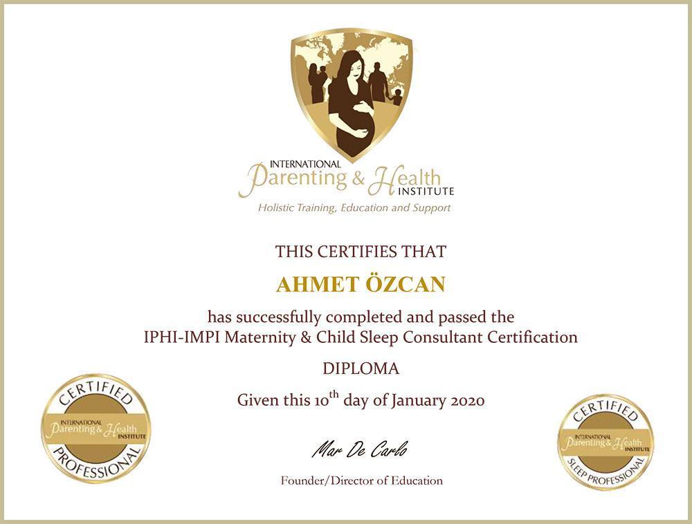 Dr. Ahmet Özcan Child Sleep Certificate